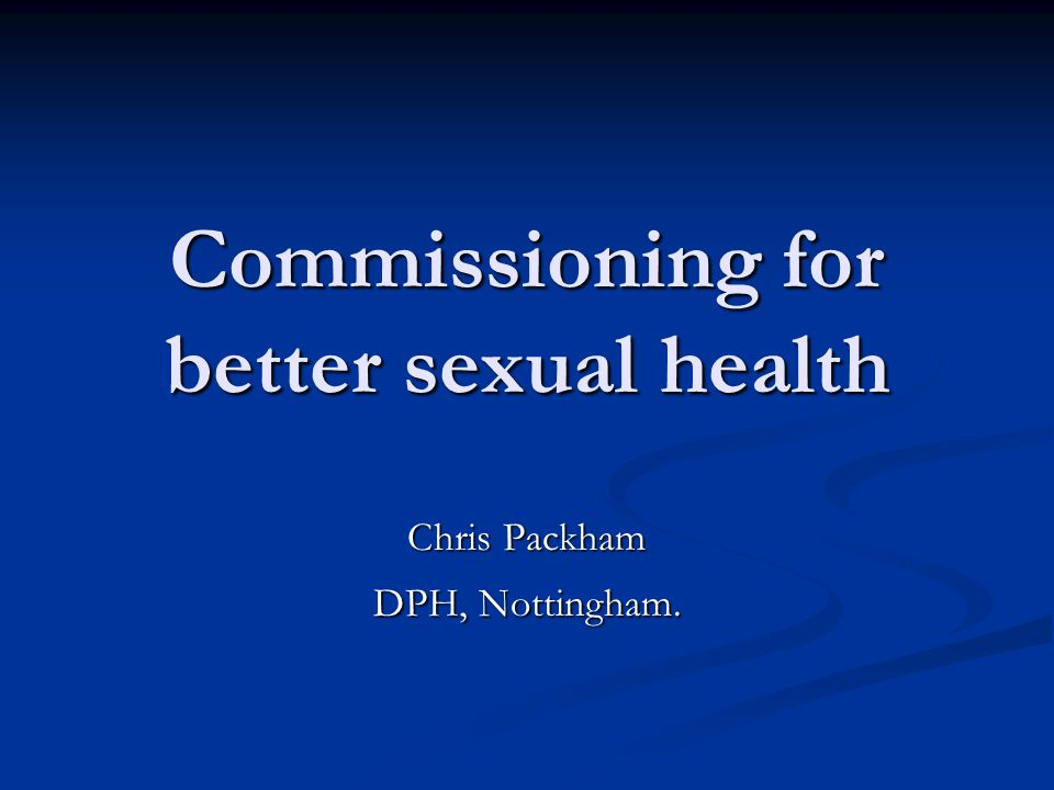 Sexual health screening nottingham