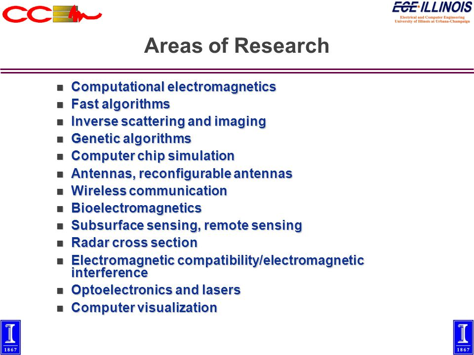 Overview of Electromagnetics Research Weng Cho Chew Director, Center