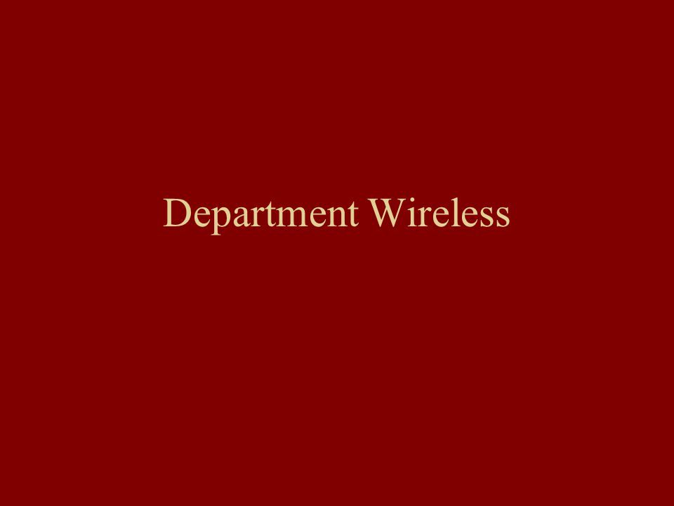Department Wireless