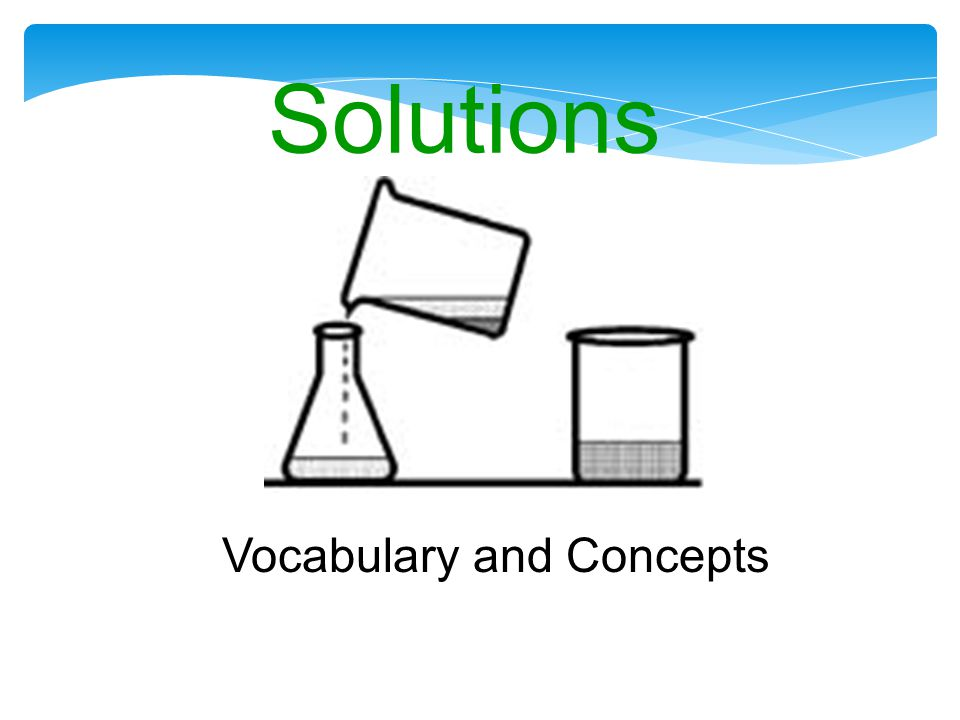 Solutions Vocabulary and Concepts