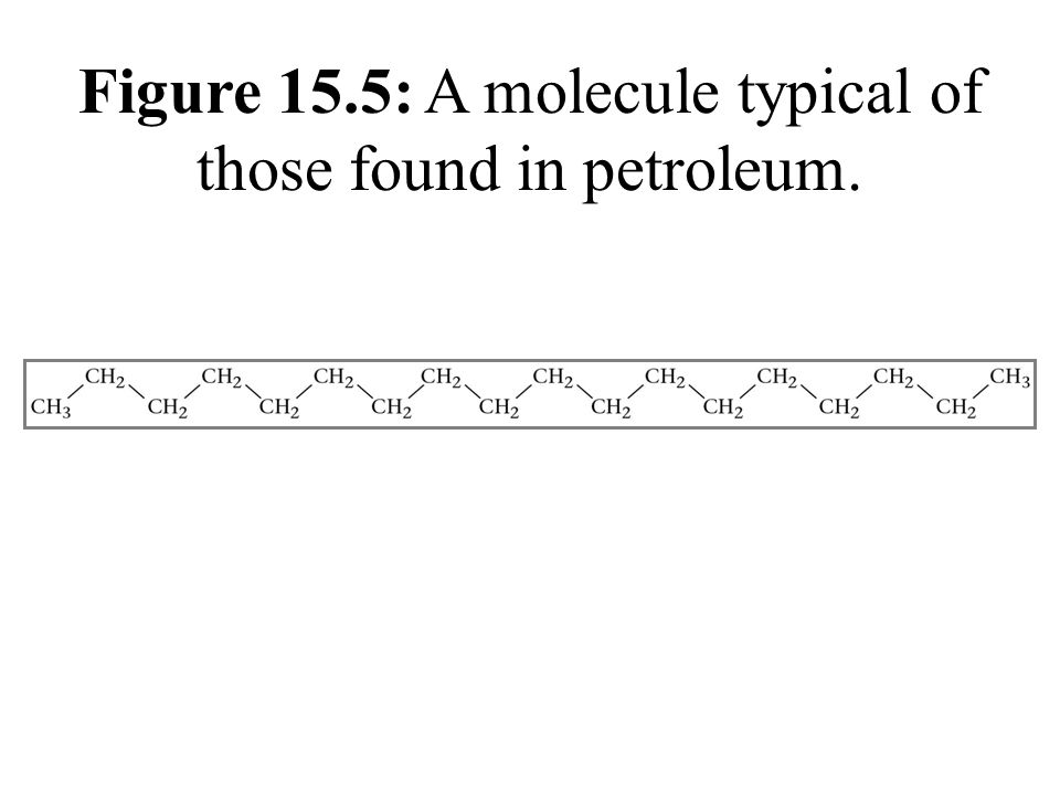 Figure 15.5: A molecule typical of those found in petroleum.