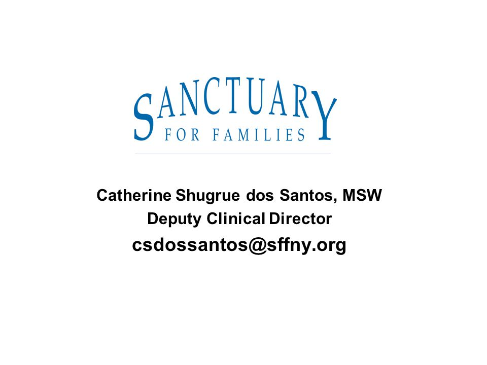 Catherine Shugrue dos Santos, MSW Deputy Clinical Director