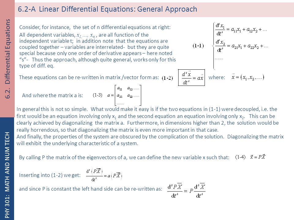 Differential Equation Eigenvalue Problem
