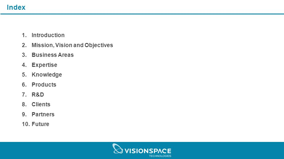 9ee0eb5d097c Company Profile. Index 1.Introduction 2.Mission, Vision and ...