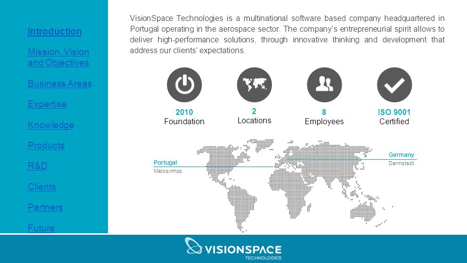 Company Profile  Index 1 Introduction 2 Mission, Vision and