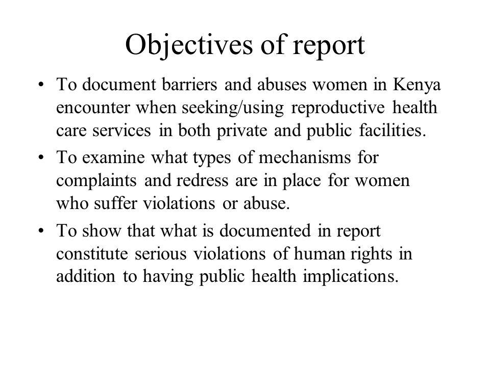 Sexual health care facilities