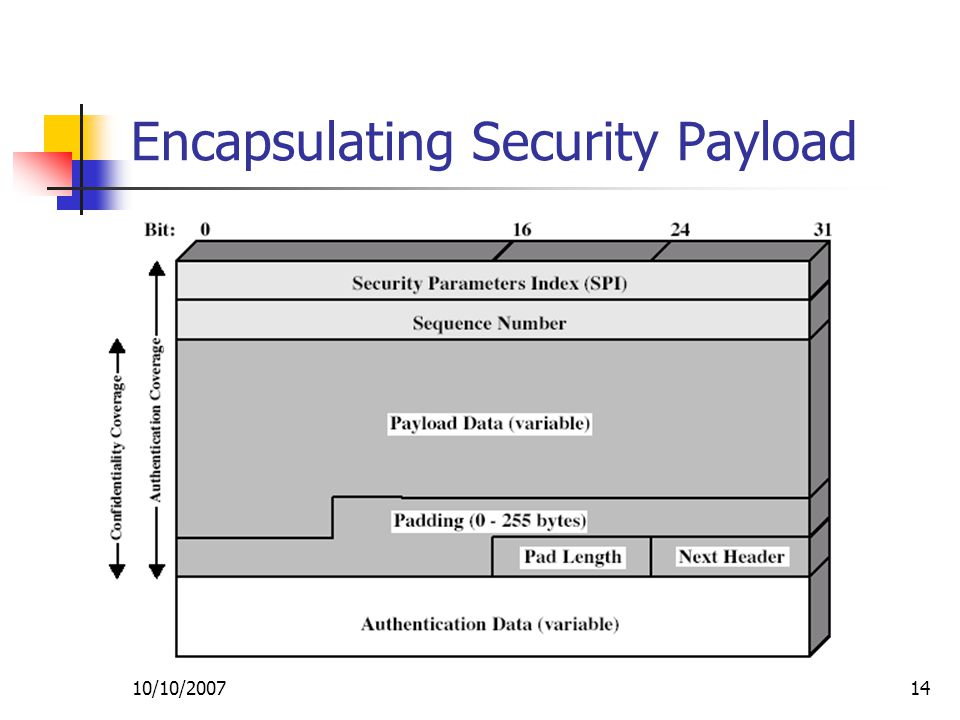 10/10/ Encapsulating Security Payload