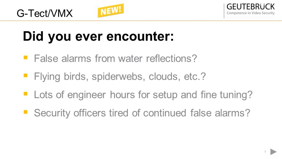 False alarms from water reflections?  Flying birds