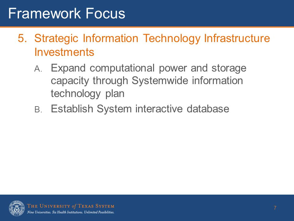 5.Strategic Information Technology Infrastructure Investments A.