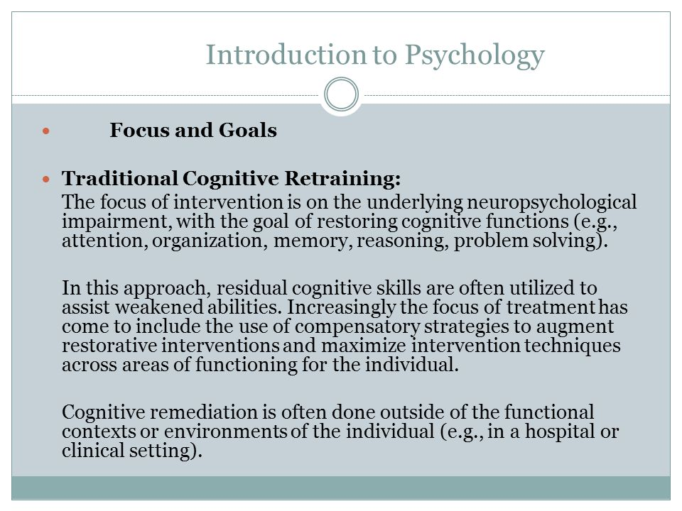 Introduction to Psychology The concept of cognitive disabilities is extremely broad, and not always well-defined.