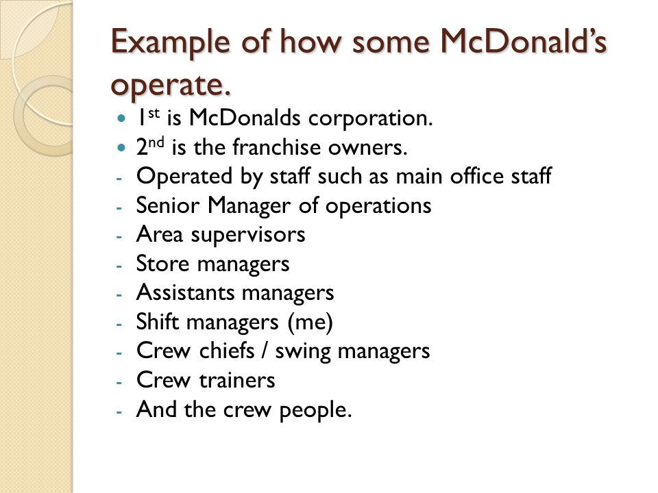 effectiveness of leadership at mcdonalds management essay essay Most importantly, however, leadership effectiveness is defined depending on the ability to effect employee motivation, satisfaction, and the overall performance of a particular group (kaiser, hogan, & craig, 2008.
