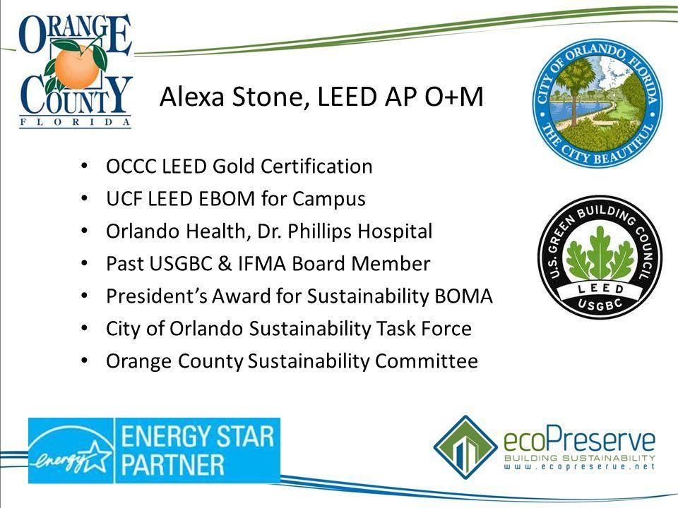 Alexa Stone Leed Ap Om Occc Leed Gold Certification Ucf Leed Ebom