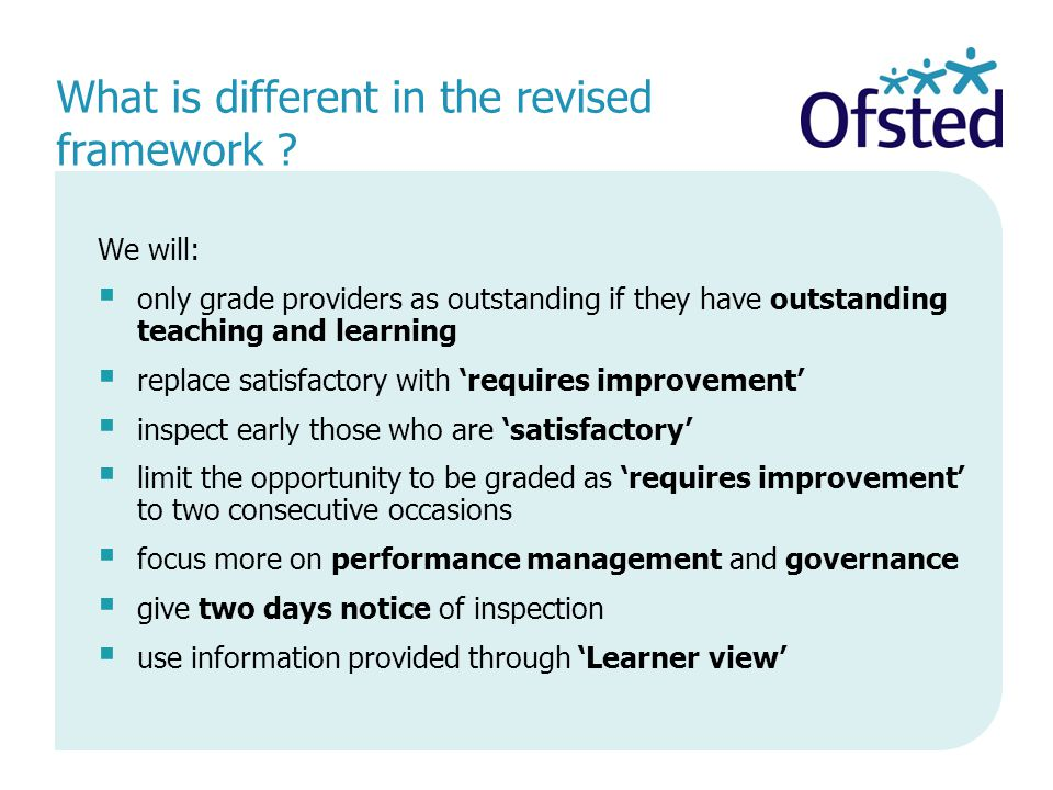 What is different in the revised framework .