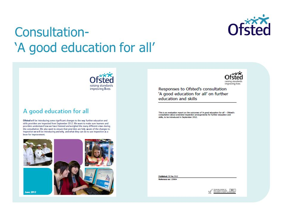 Consultation- 'A good education for all'