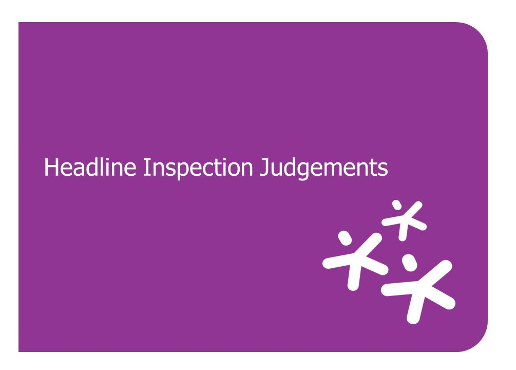 Headline Inspection Judgements