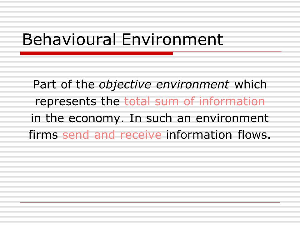 behavioural environment