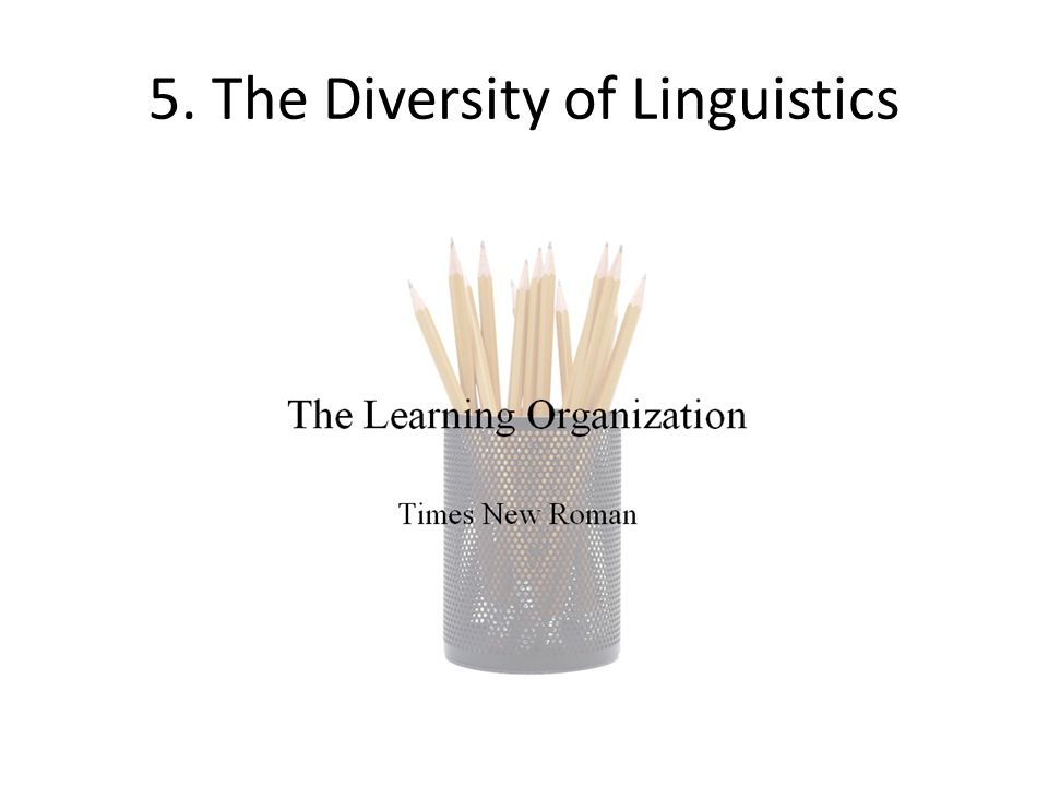 5. The Diversity of Linguistics