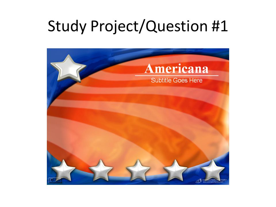 Study Project/Question #1