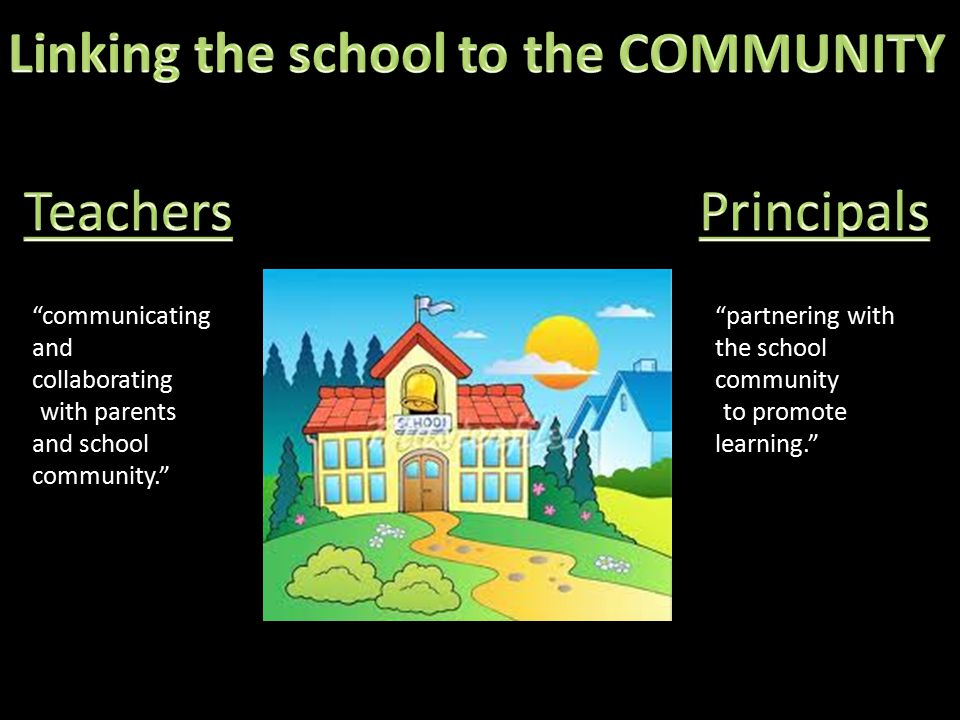 communicating and collaborating with parents and school community. partnering with the school community to promote learning.
