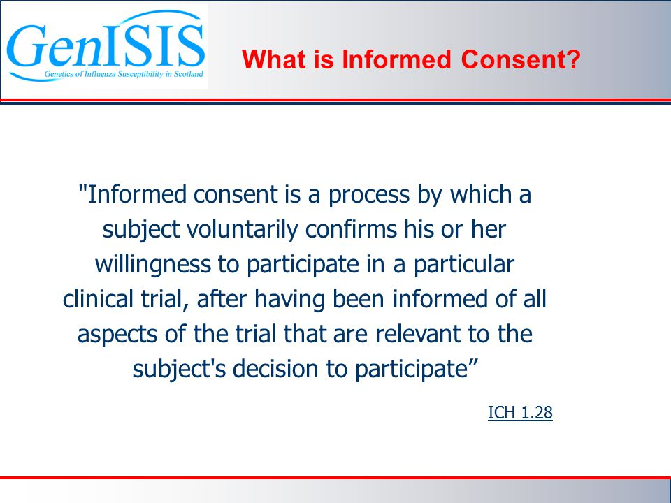 What is Informed Consent.