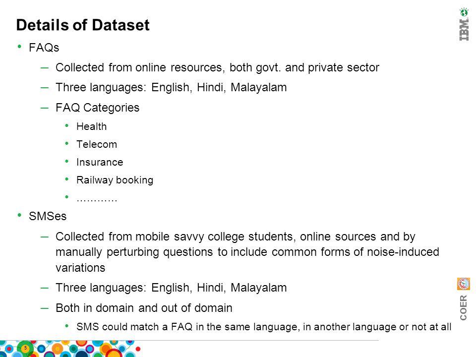 COER FIRE 2011 Proposal Dec 2, 2011 SMS Based FAQ Retrieval Task at