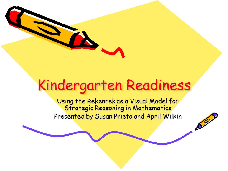 Kindergarten Readiness Using the Rekenrek as a Visual Model for Strategic Reasoning in Mathematics Presented by Susan Prieto and April Wilkin