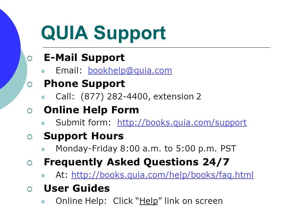 QUIA Online Lab Manual & Workbooks Student Registration