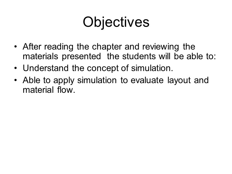 Chapter 15 Application of Computer Simulation and Modeling
