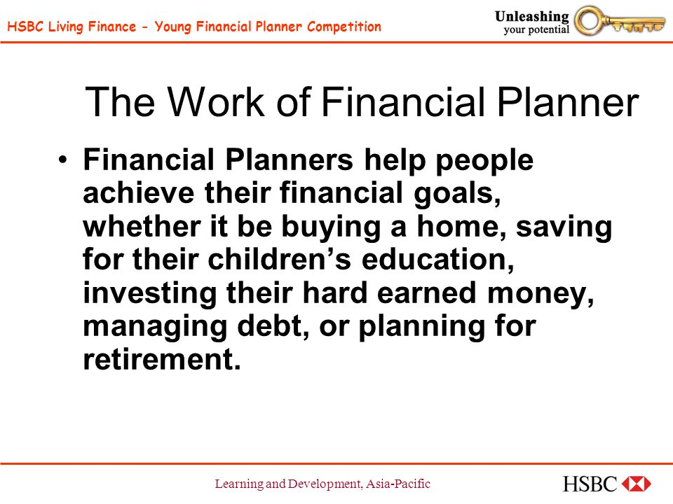HSBC Living Finance - Young Financial Planner Competition