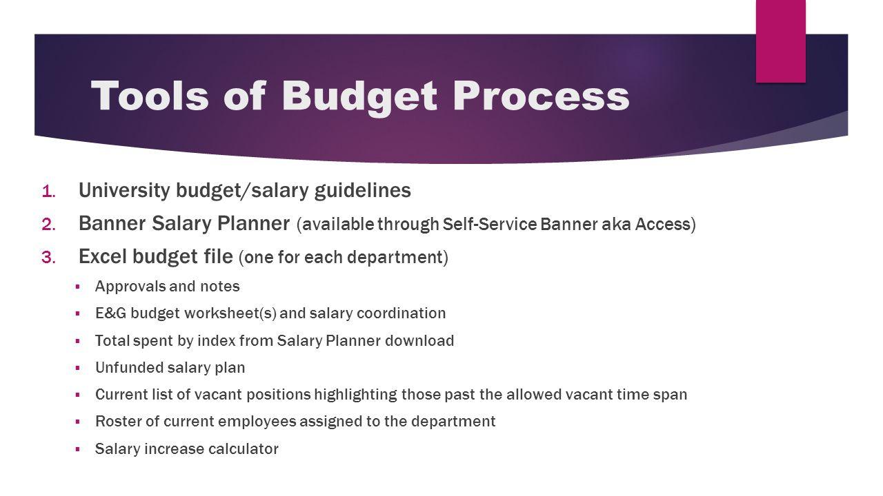 budget process march 27 purpose of budget process 1 setup new year