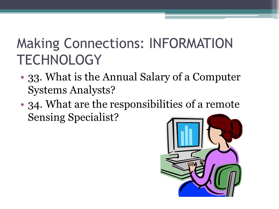 Making Connections: INFORMATION TECHNOLOGY 33.