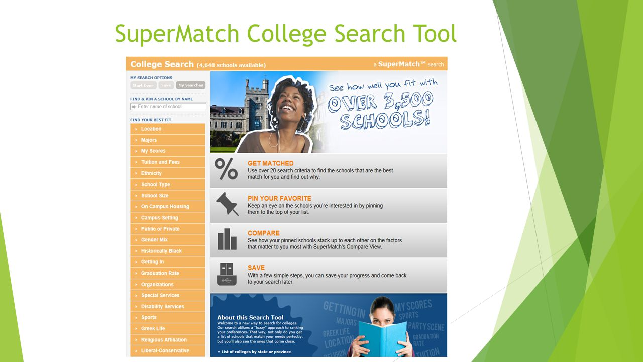 SuperMatch College Search Tool