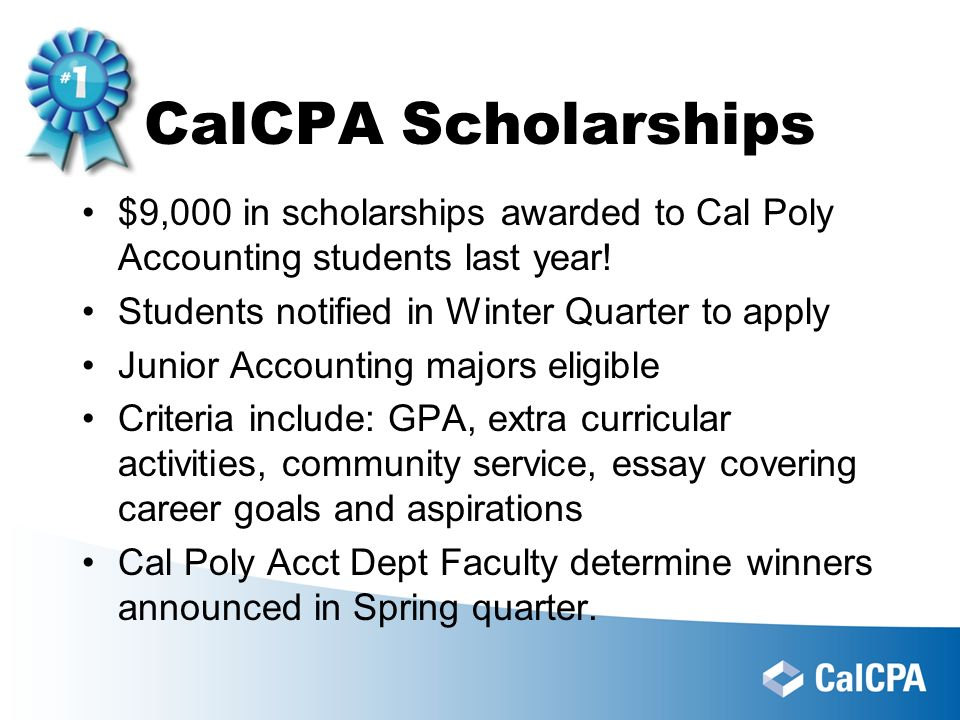 Central Coast Chapter CalCPA Cal Poly Accounting Club