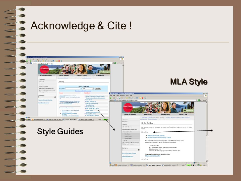 Acknowledge & Cite ! MLA Style Style Guides