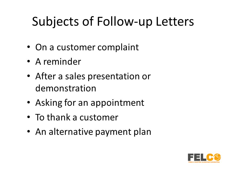 Lesson 3 types of business letters hr tod english business writing 16 subjects of follow up letters on a customer complaint a reminder after a sales presentation or demonstration asking for an appointment to thank a spiritdancerdesigns Images