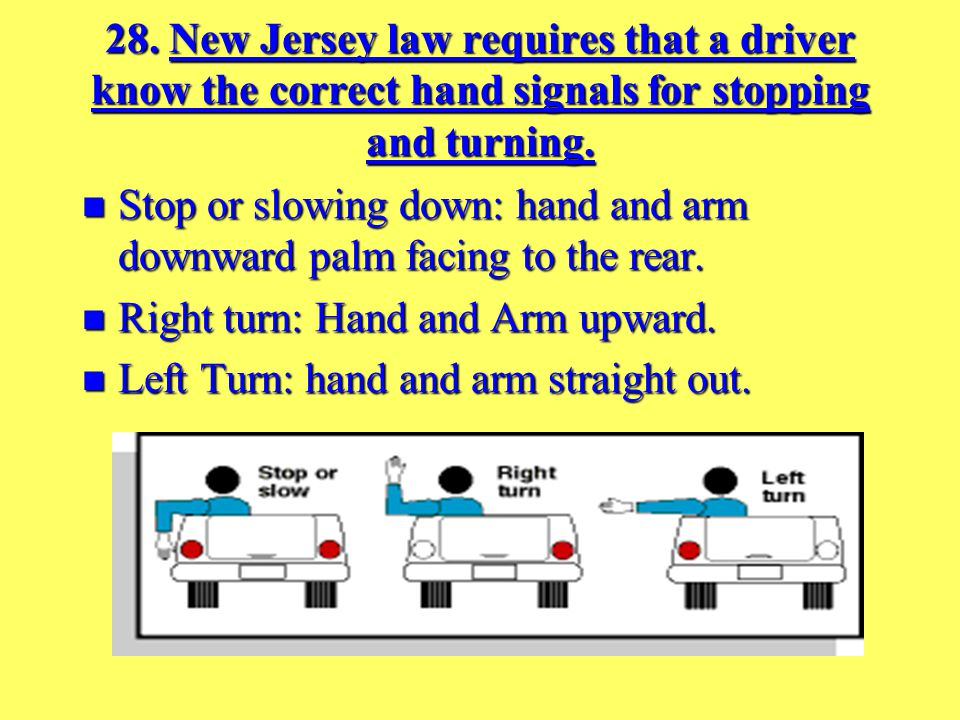 27. Turn signals must be given how many feet before you turn 100 feet 100 feet