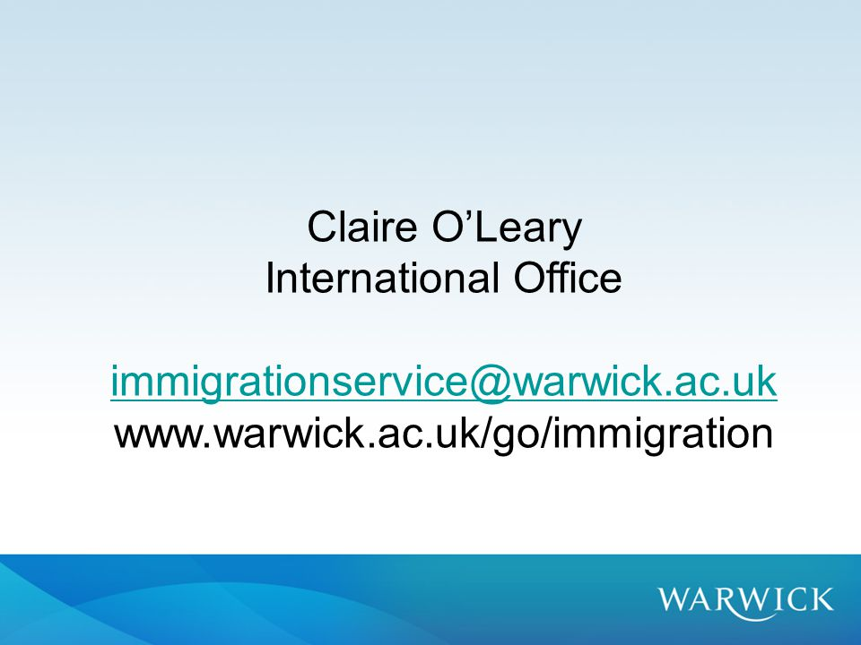 Claire O'Leary International Office
