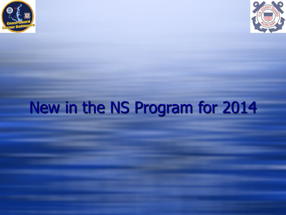 New in the NS Program for 2014