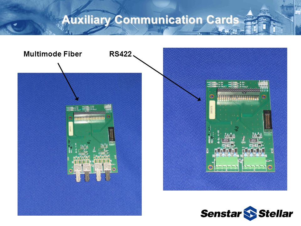 Auxiliary Communication Cards RS422Multimode Fiber
