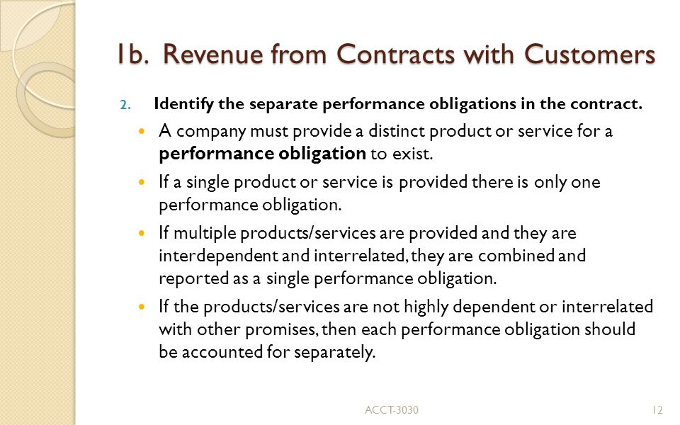 1b. Revenue from Contracts with Customers 2.
