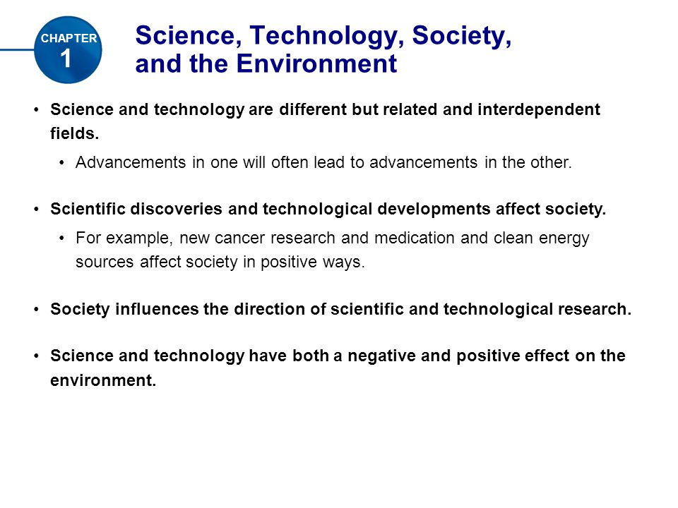 effects of science and technology on environment