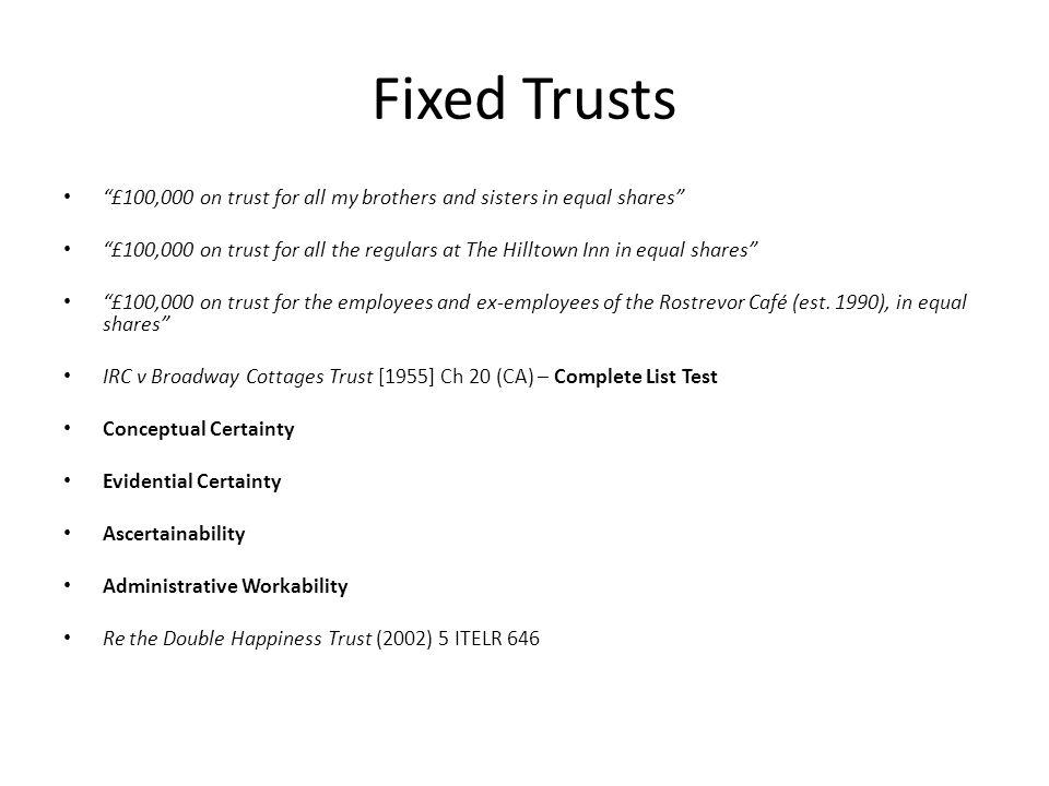 fixed trust example