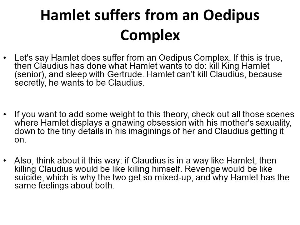 hamlet and oedipus complex