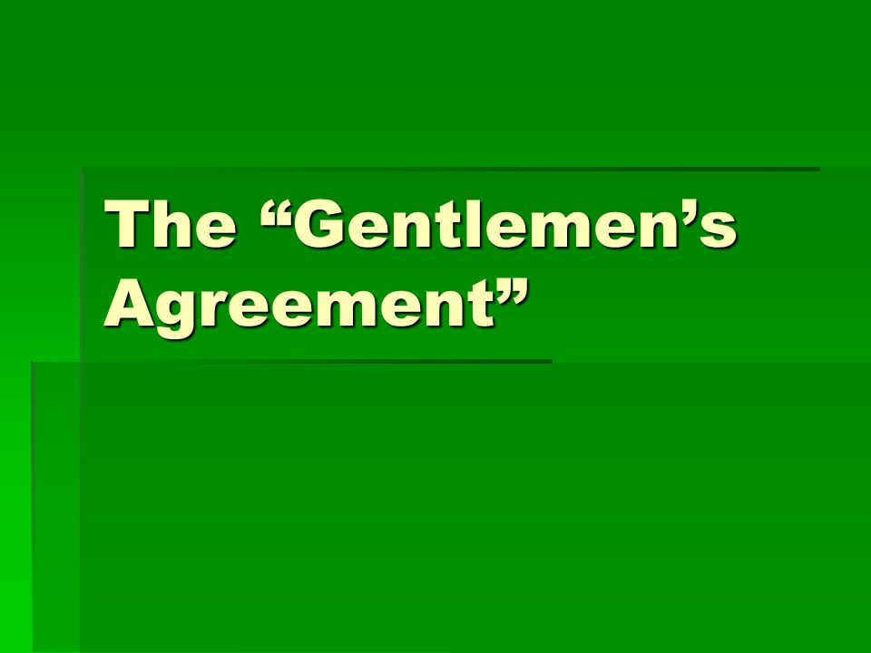 The Gentlemens Agreement Chinese Immigration Itinerant