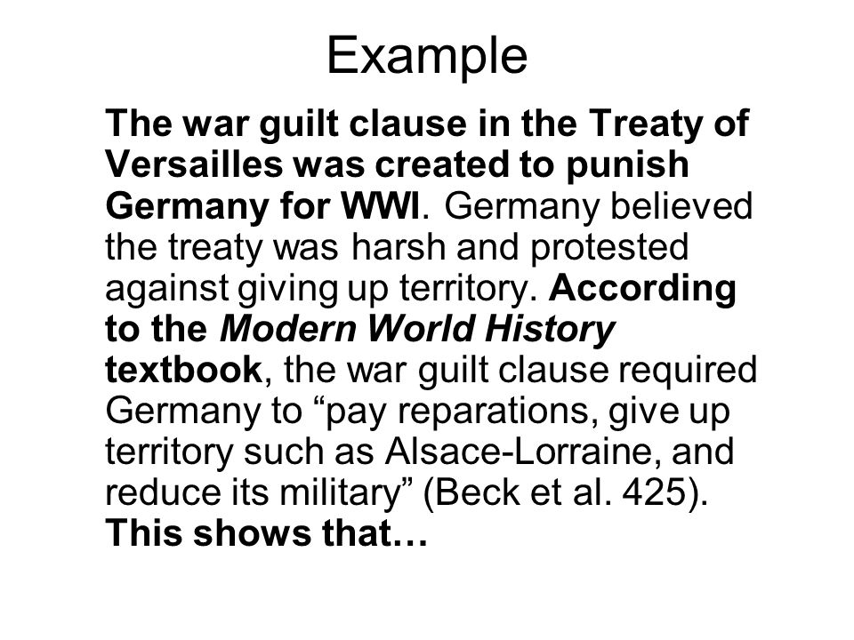 war guilt clause germany