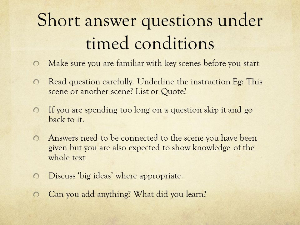 sustainability short answer questions Answer: that is a loaded question because depending on where you are in the project the risk assessment activity that you do will depend on what has already been done an easy way to answer this question is to respond by saying that risks should be assessed.