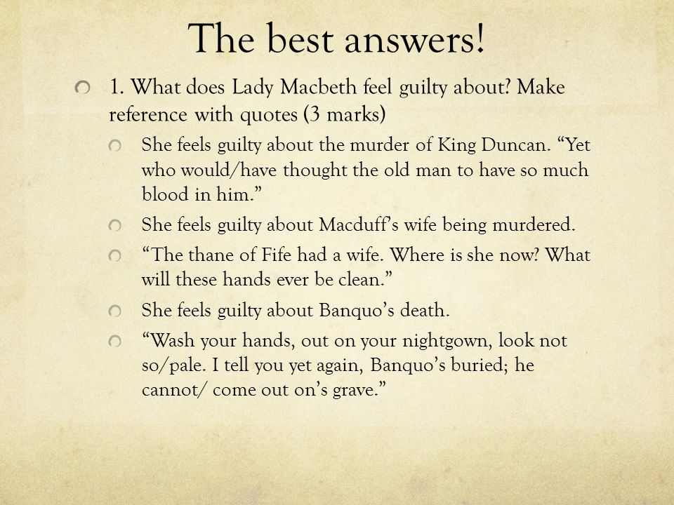 macbeth feeling guilty