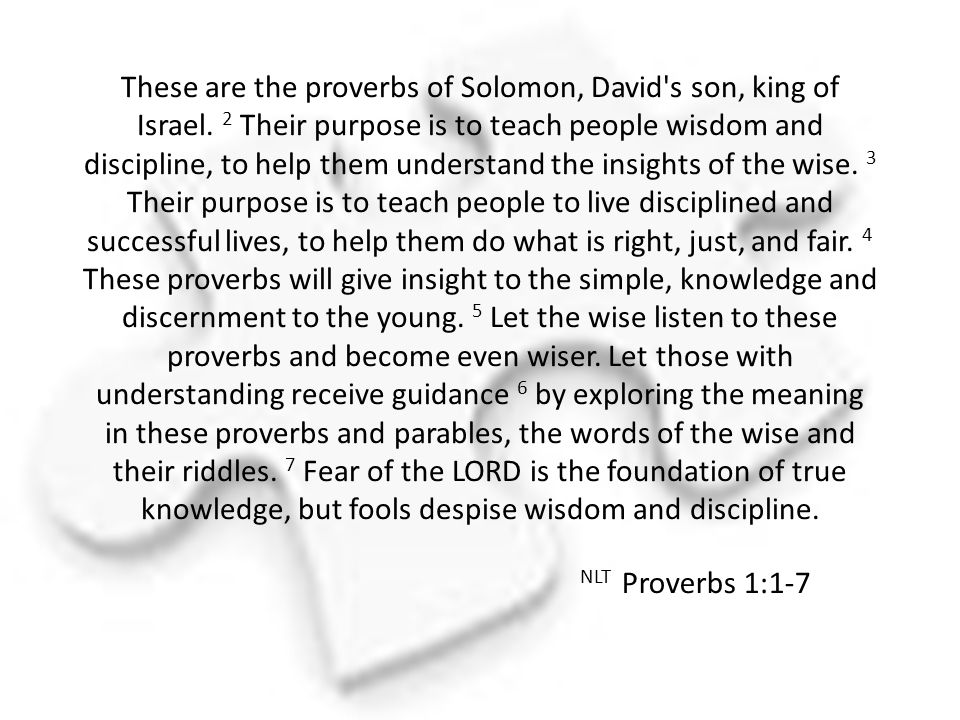These are the proverbs of Solomon, David s son, king of Israel.