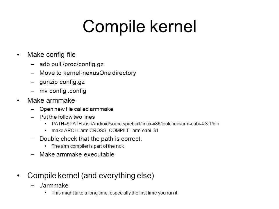 Change and compile wifi driver on android  Get kernel cd ~/Android