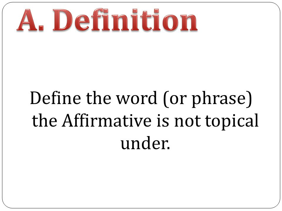 define the word and